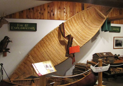Moosonee Area Birch Bark Canoe