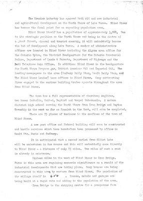 CKNR radio station promotion piece, Blind River, Circa 1958