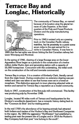 Terrace Bay and Longlac - Historically - page 1
