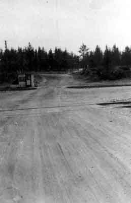 Looking South Across CPR Tracks (1945)