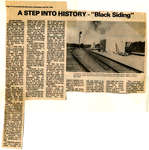Newspaper Article on the History of Black Siding (Terrace Bay)