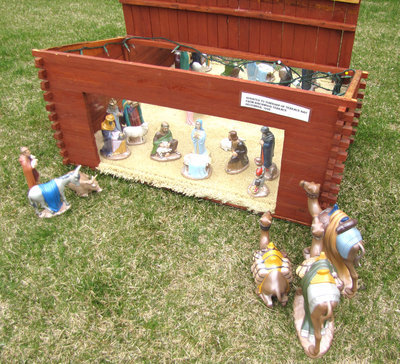 Terrace Bay Public Library Nativity Scene with Figurines