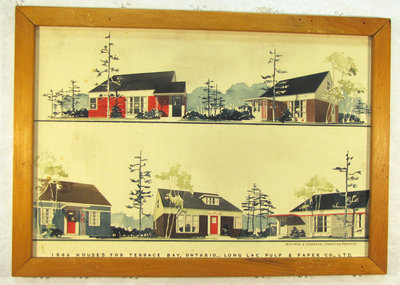 1946 Painting of Houses for Terrace Bay