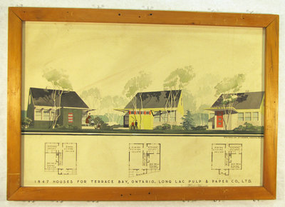 1947 Painting of Houses for Terrace Bay