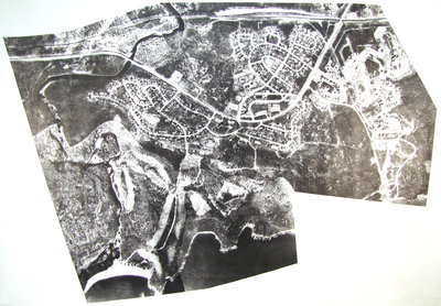 Black and White Aerial View of Terrace Bay
