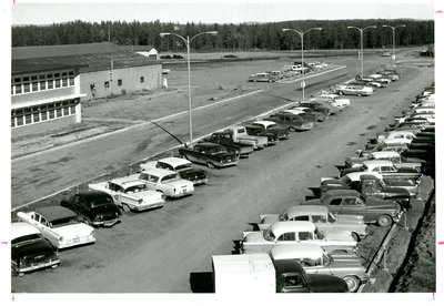 The Parking Lot at the Mill in the 1950s