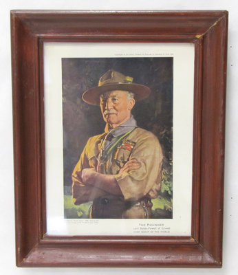 Painting of Chief Scout of the World, 1929