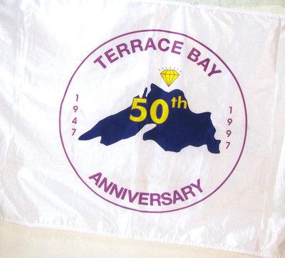 Terrace Bay 50th Anniversary Flag