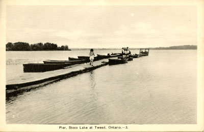 Pier, Stoco Lake at Tweed, Ontario. -3