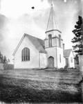 Exterior view of New Presbyterian Church, ca.1890.  Cavendish, P.E.I.
