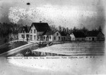 Drawing of Park Corner Estate.  (The Montgomery Clan), ca.1880.  Park Corner, P.E.I.