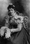 Lucy Maud Montgomery age 17, ca. 1891.  P.E.I. (P.W. College)