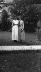 Lucy Maud Montgomery with Bertie McIntyre, ca.1920's.  Leaskdale, ON.