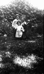 Lucy Maud Montgomery with Stuart & Chester, ca.1917.  Leaskdale, ON.