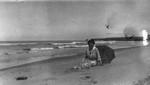 Lucy Maud Montgomery on Cavendish shore, ca.1923.  Cavendish, P.E.I.