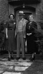 Evelyn (?), Ewan & Lucy Maud Montgomery, 1937.  Toronto, ON.