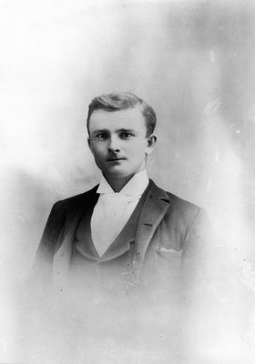 Willie Pritchard (brother of Laura Pritchard.), ca.1890.  Prince Albert, SK.