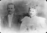 Laura Agnew & Andrew Agnew (husband), ca.1896.  Prince Albert, SK.