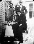 Jack Whitfield, George Campbell, Stella Campbell & Henry McClure, ca.1900.  Cavendish, P.E.I.