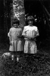 Maudie & Georgie Campbell as little girls, ca.1890's.  Park Corner, P.E.I.
