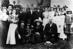 Group photo at Mary Campbell's wedding, ca.1900.  P.E.I.