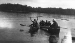 A row on the Muskoka, ca.1920.  Bala, ON.