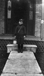 Chester ready for 1st day of school, ca.1918.  Leaskdale, ON.