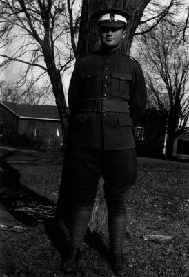 Chester in Training Corps Uniform, ca.1930.  Norval, ON.