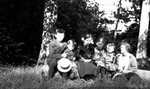 Chester's 1st picnic in Mr. George Leask' woods, ca.1914.  Leaskdale, ON.
