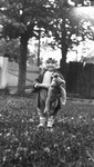 Stuart with teddy bear, ca.1917.  Leaskdale, ON.