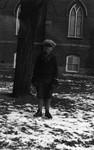 Stuart Macdonald with skates, age 8 (?), ca.1923.  Leaskdale, ON.