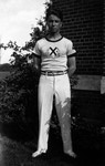 Stuart Macdonald, St. Andrew's College, age 17, ca.1932.  Norval, ON.