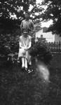 Stuart & unidentified girl, ca.1925.  Leaskdale, ON.