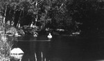 Swimming hole with Chester and Stuart Macdonald