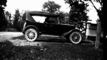 The Macdonald's first car, Leaskdale, ON.
