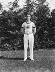 Stuart Macdonald in gymnastics outfit.  Norval, ON.