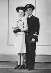 Stuart Macdonald and wife Ruth.  Wedding photograph, ca.1943.  Toronto, ON.