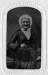 Great-grandmother Woolner, Sarah Kemp Woolner, ca.1860.  (Tintype).