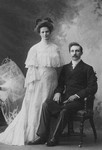Wedding portrait of Mr. and Mrs. E. Mutch, ca.1900's.