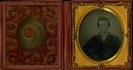 Hugh John Montgomery, portrait, 1857, age 16. Lucy Maud Montgomery's father.