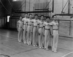Gymnastic Team Portrait, St. Andrew's College, Stuart Macdonald first in line