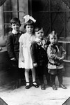 Portrait of Luella Reid Macdonald and her three brothers