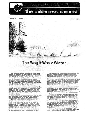 Nastawgan (Richmond Hill, ON: Wilderness Canoe Association), 1 Dec 1979