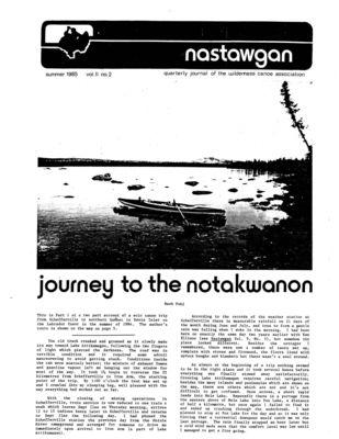 Nastawgan (Richmond Hill, ON: Wilderness Canoe Association), Summer 1985