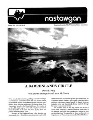 Nastawgan (Richmond Hill, ON: Wilderness Canoe Association), Spring 1991