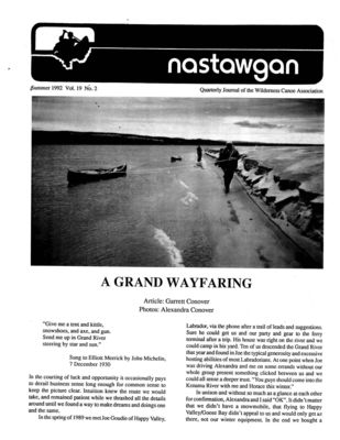 Nastawgan (Richmond Hill, ON: Wilderness Canoe Association), Summer 1992