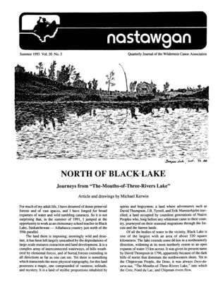 Nastawgan (Richmond Hill, ON: Wilderness Canoe Association), Summer 1993
