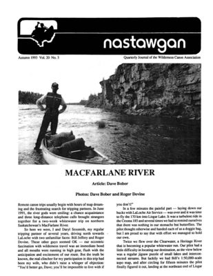 Nastawgan (Richmond Hill, ON: Wilderness Canoe Association), Fall 1993