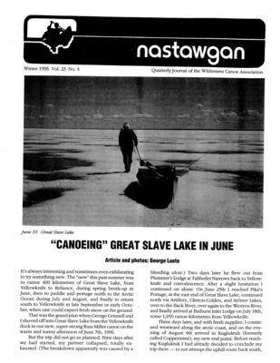 Nastawgan (Richmond Hill, ON: Wilderness Canoe Association), Winter 1996