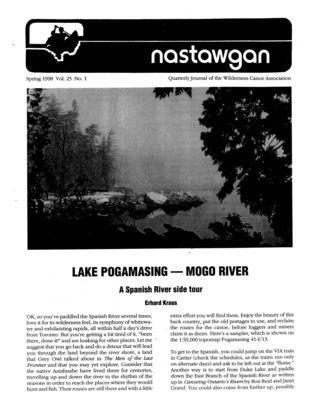 Nastawgan (Richmond Hill, ON: Wilderness Canoe Association), Spring 1998